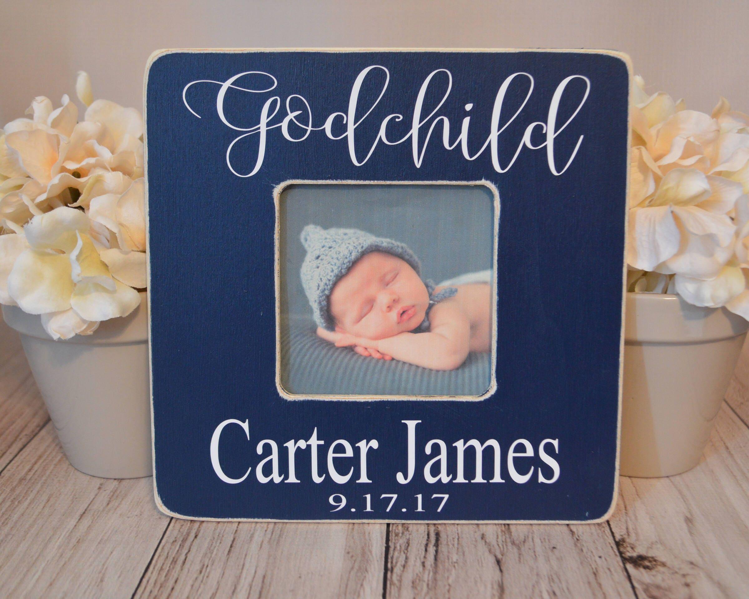 Godchild picture frame Baptism frame custom picture frame | Etsy