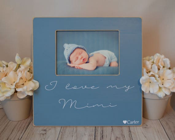 Mimi Picture Frame Custom Picture Frame I Love My Mimi Etsy