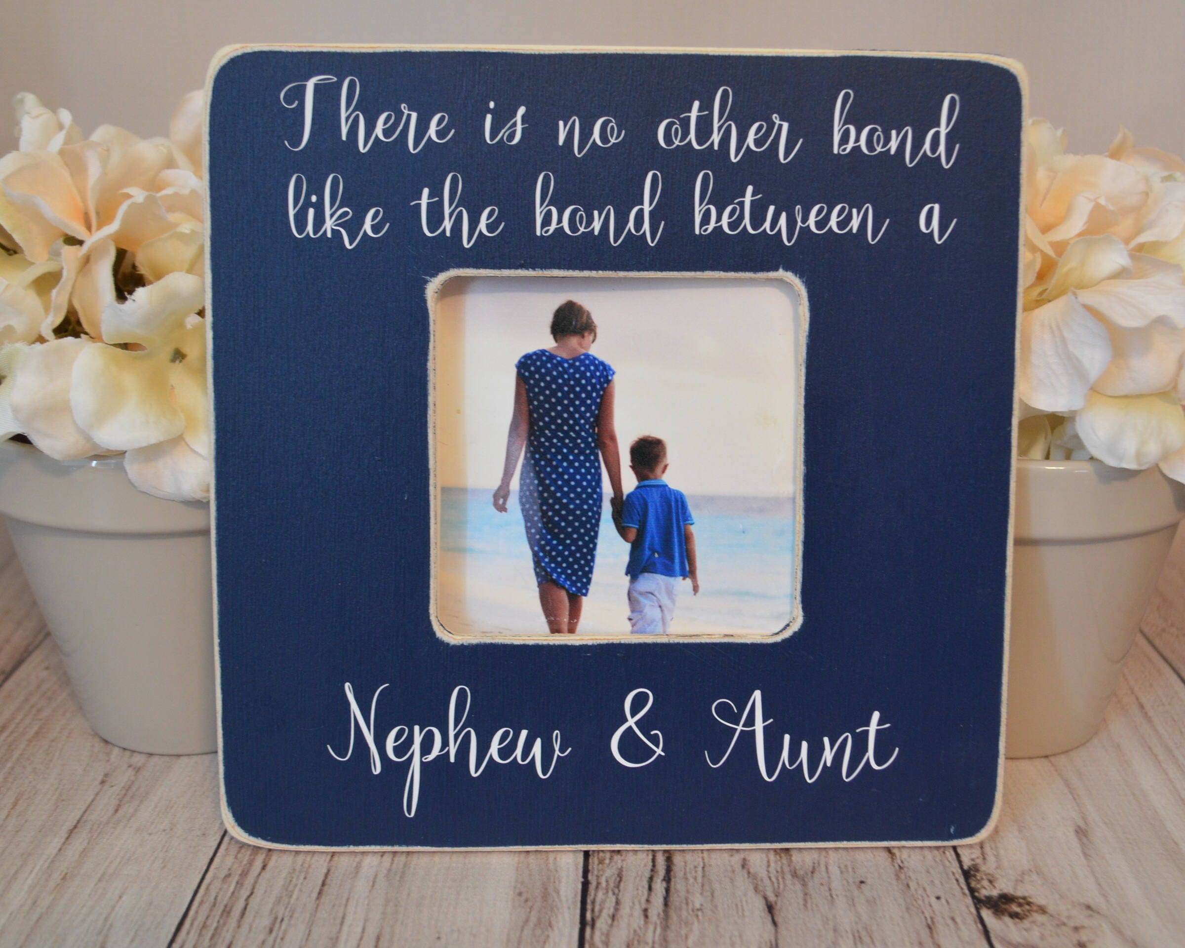 Aunt picture frame Custom picture frame Aunt and Nephew bond | Etsy