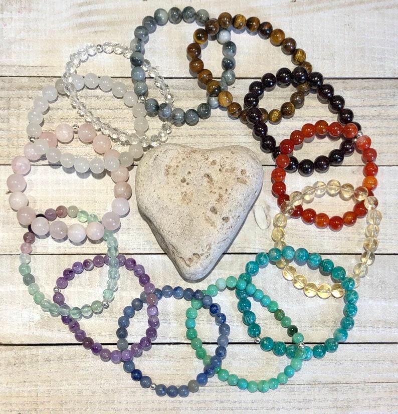 Unisex Bracelet Mens Birthstone Jewelry Citrine Stretch Bracelets Healing Crystal Beaded Bracelet Womens Anniversary Gemstone Bracelet