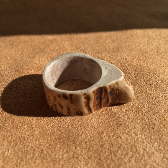 Antler Ring, Natural Whitetail Deer Antler Ring, US Size 7, Gnarly Statement Ring, Naturalist, Earth Friendly Jewelry