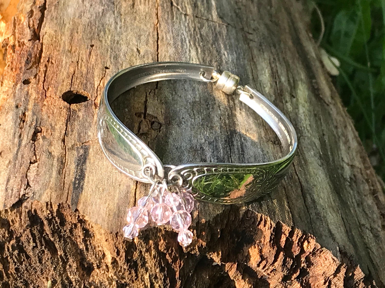 silver spoon bracelet silverware jewelry stainless steel silver
