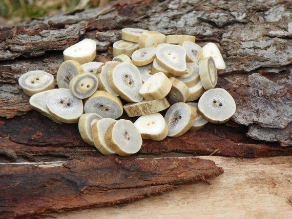 Antler Buttons, Natural Deer Antler Buttons/Crafting/Sewing/Knitting/Crochet/Eco-Friendly/Organic Material/Woodland Country