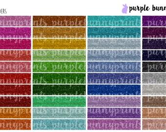 Glitter Headers // Planner Stickers!