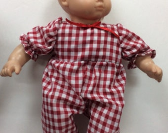 fe7db5267f Cotton doll romper made to fit American girl Bitty baby print cotton romper
