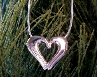 Heart Necklace, No Greater Love Necklace-Free Shipping (US, single address only)