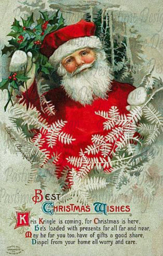 Immagini Di Natale Vintage.Cartolina Di Natale Vintage Vintage Del 1900 Download Immediato Immagini Di Natale Natale Ephemera Immagine Stampabile Cardmaking Scrapbooking