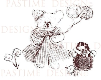 Digital Stamp,Digi Stamp,Teddy Bear Image,Line Drawing,Embroidery Transfer,Coloring,DigiScrapbook,jpeg,Printable stamp