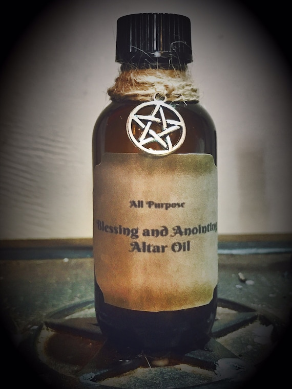All Purpose Blessing and Anointing Oil - Candle Dressing - Altar Oil -  Sacred Oil - Pagan - Wiccan - Wicca - Ritual Supplies