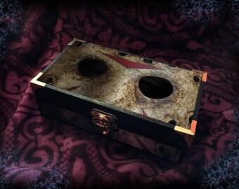 Friday the 13th • Jason Voorhees • Horror Movie • Wooden Trinket Box •  Decoupage • Jewellery Box