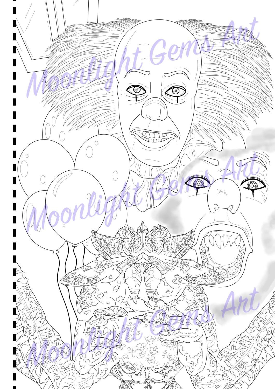 horror clown bilder zum ausmalen - malvorlagen