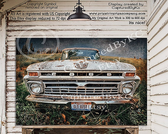 Old Ford Pick Up Truck CANVAS WALL ART DECO LARGE READY TO HANG all sizes