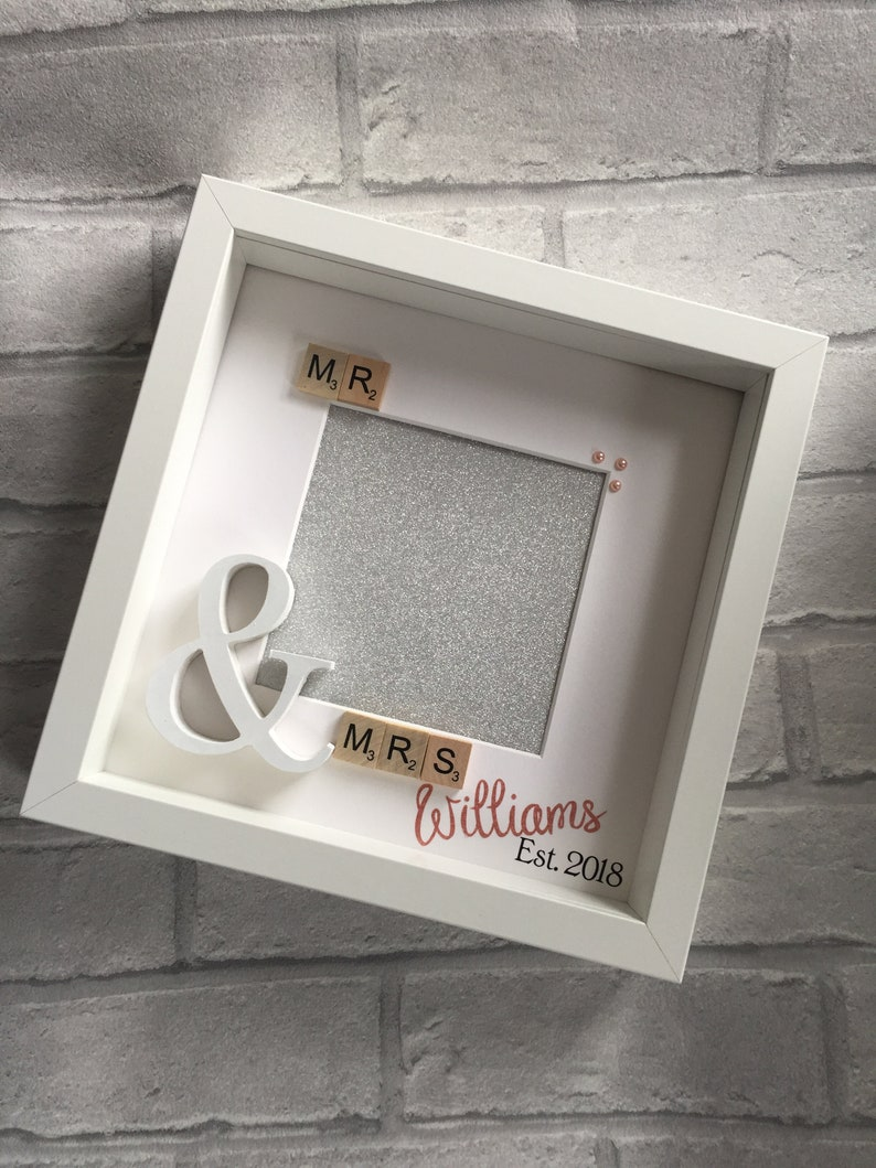 Personalised Mr Mrs Box Frame Wedding Gift Frame Mr And Etsy