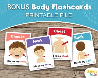 BONUS Body Flashcards / Printable Flashcards / Set of 8 / Educational Flashcards