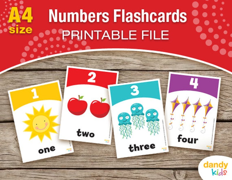 picture about Printable Numbers 1 10 Flashcards named Amount Flashcards / A4 / Printable Flashcards / Quantities 1-10 / Enlightening Flashcards