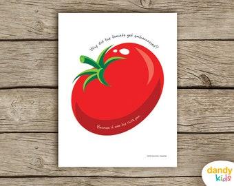 Tomato Joke Wall Art / Printable / Kids Wall Art / Home Decor / Digital Print / Instant Download