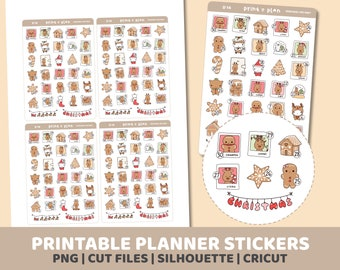 Christmas Countdown #2 Stickers | Printable | Planner Stickers | Cut Lines | Planner Sticker Printable | D14