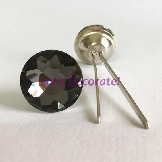 "10 PCS 6 Color 1/"" Amethyst diamond Glass decorative Upholstery Decorative tacks"