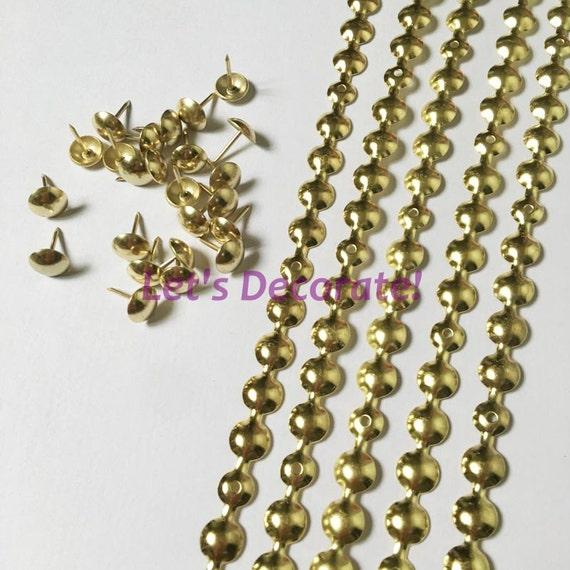 10meters 11mm Gold Plated Decorative Nail Strip Nailing Etsy
