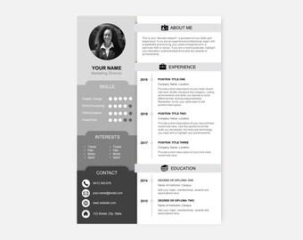 Einfache Timeline Lebenslauf Vorlage Etsy