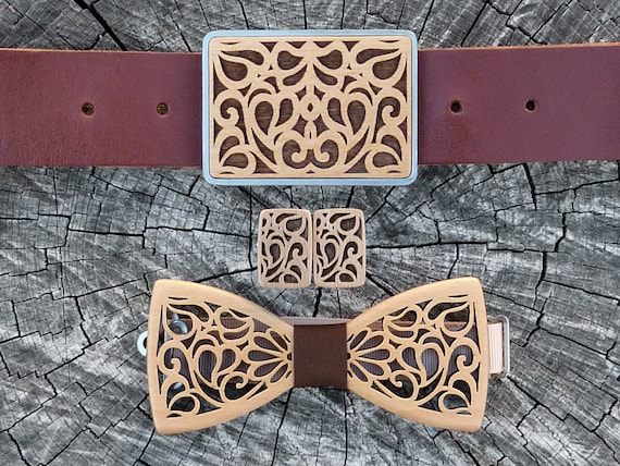 Wooden bow tie|Wooden Bow tie and Cufflinks|Men/'s gift set|Bowtie wood|Gift for man|Wedding bow tie|Birthday gift|Christmas Gift