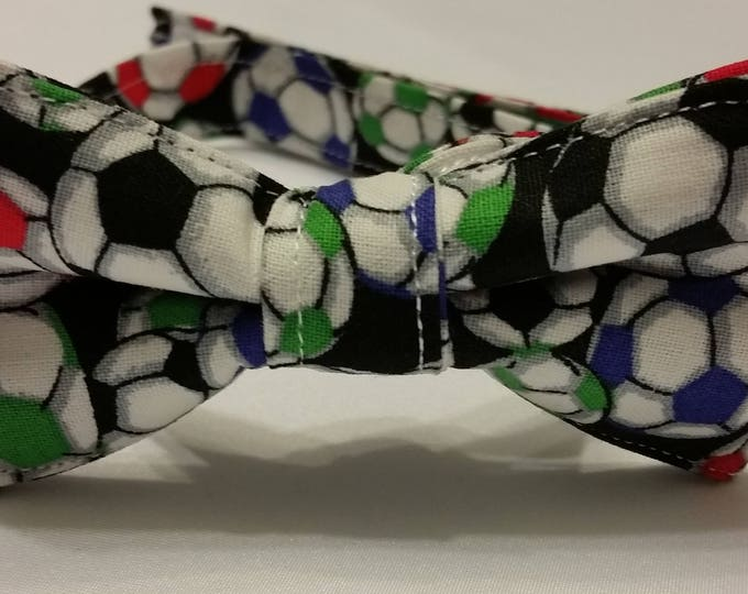 Boys Multicolored Soccer Ball Bowtie