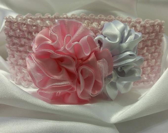 Newborn Baby Girls Pretty in Pink Headband
