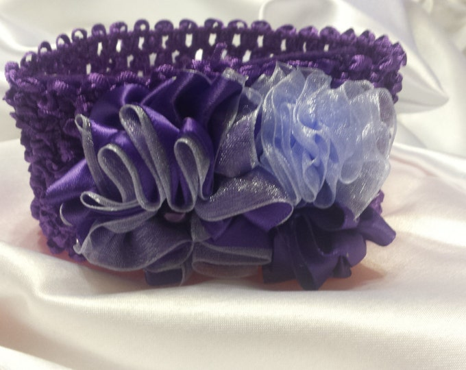 Baby Girls Princess Purple and Lavender Headband