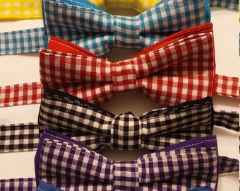 SALE Mens Gingham Bowtie