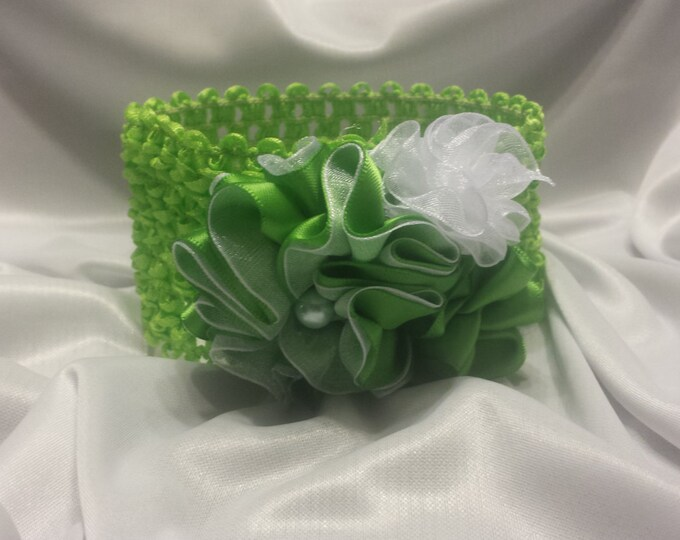 Baby Girls Princess Lime Green Headband
