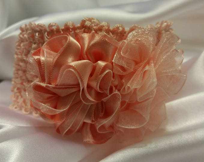Baby Girls Peaches and Cream Princess Headband