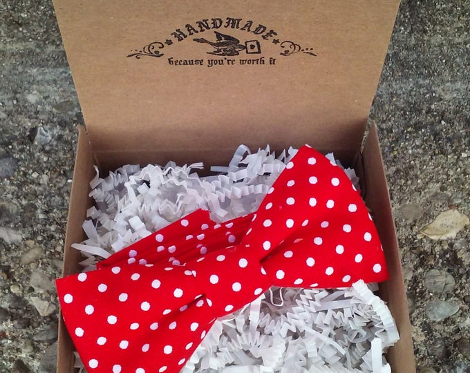 Boys Red and White Polka Dots Bowtie