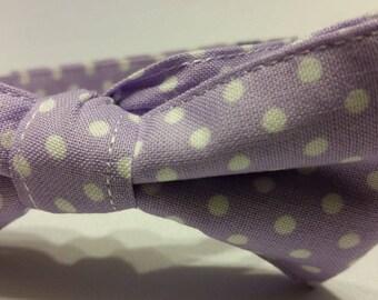 Boys Lavender Polka Dots Bowtie