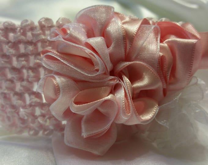 Baby Girls Soft Pink Princess Headband