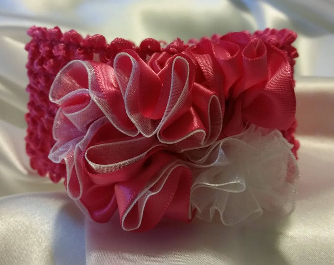 Newborn Baby Girls Hot Pink Princess Headband
