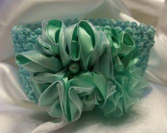 Newborn Baby Girls Seafoam Green Princess Headband