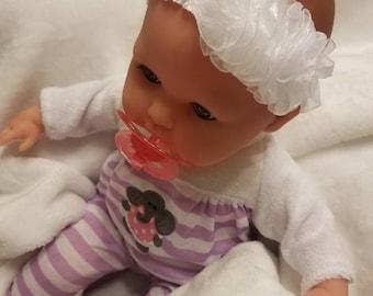 Newborn Baby Girls Preemie  Precious Angel White Sheer Headband