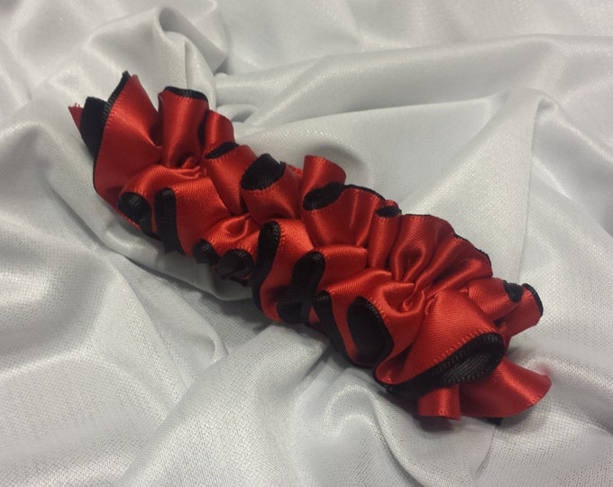 Girls Red and Black Barrette