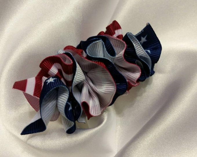 Girls Red White and Blue USA Barrette