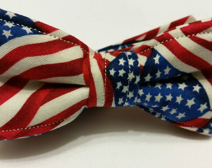 Boys Red White and Blue USA Bow tie