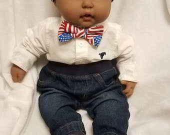 Baby Boys USA American Flag Bow tie