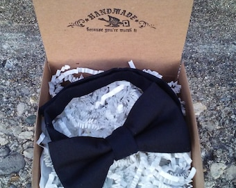SALE Boys Solid Black Bowtie
