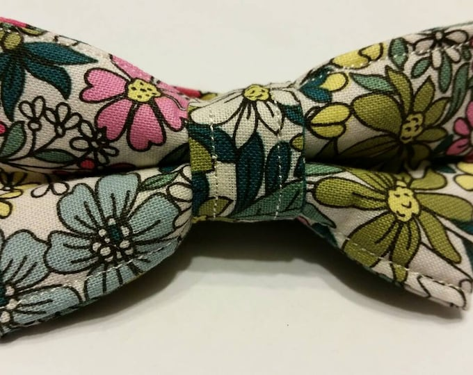 Boys Vintage Flower Bowtie
