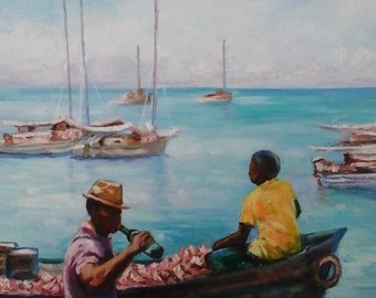 Signed K Hyde original oil painting