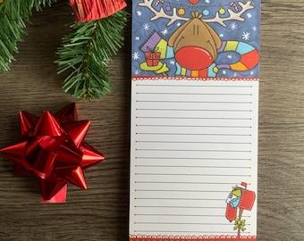 Magnetic Christmas Reindeer Notebook, Christmas