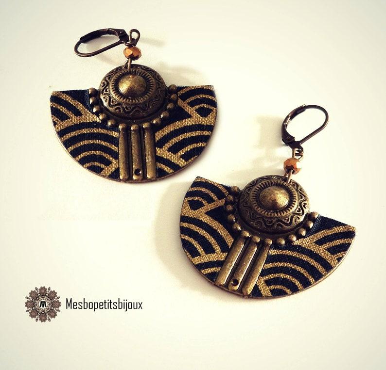 beautiful japanese spirit half moon earrings
