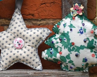 Sewing pattern- Christmas decorations- Star, Tree and Snowman