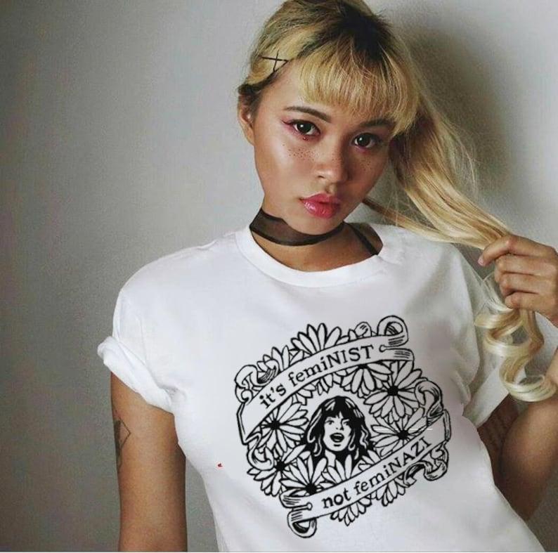 Its feminist not feminazi t shirt feminism apparel  db67aaa32275e