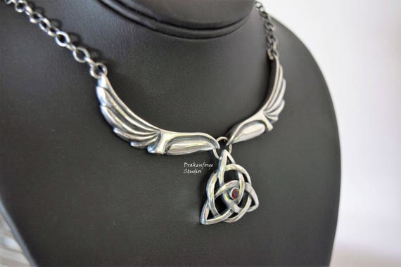 Celtic Triquetra Pendant .925 Sterling Silver Pointed Trinity Knot Charm
