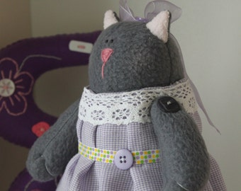Gray Plush Cat